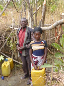 Forston and his daughter Tisaine suffer constant illness from the dirty water they drink.