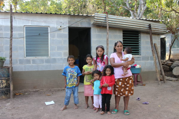 After: Maria and her children now have a safe place to call home!